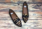 Giày Búp Bê Nữ Xuất Nhật - Da Beo