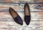 Giày Búp Bê Nữ Xuất Nhật - Nâu Đỏ